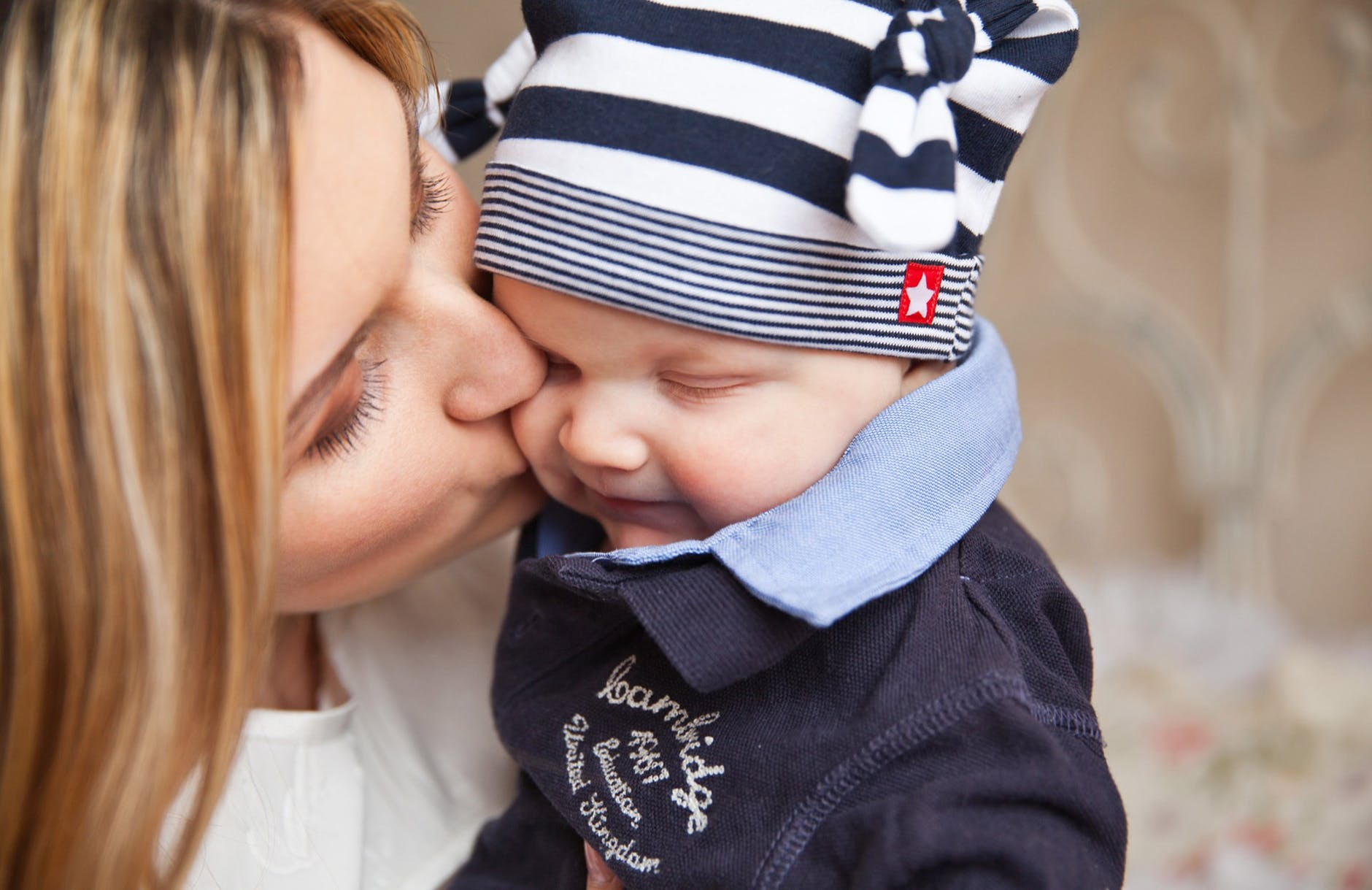 baby baby with mom mother kiss tenderness 67663